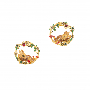 Fawn Woodland Statement Studs