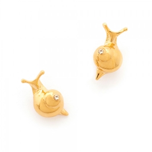 Mini Snail Stud Earring Gold