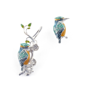 Kingfisher Earring & Climber (Rhodium)