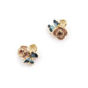 Butterfly Floral Cluster Stud - Gold