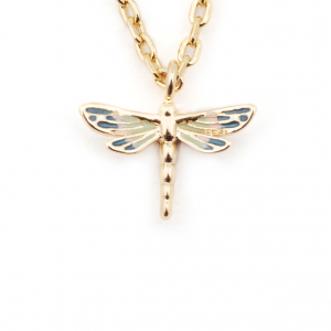 Mini Dragonfly Pendant - Gold