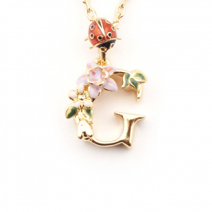 Fashion jewellery necklaces costume jewellery pendants fashion floral initial pendant g aloadofball Images