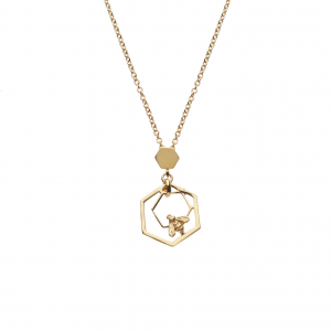 Mini Hexagon Bee Necklace