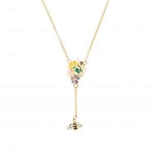 Bee & Ladybird Floral Lariat Necklace