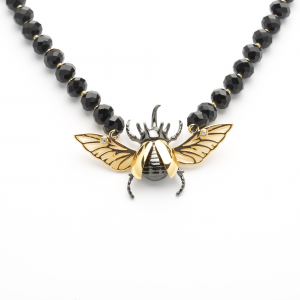 Statement Flying Beetle Necklace