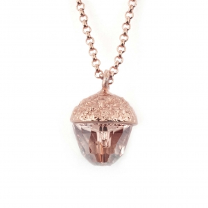 Acorn Pendant Rose Gold