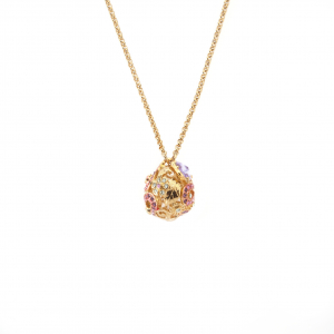 Mini Botanical Orb Necklace - Gold