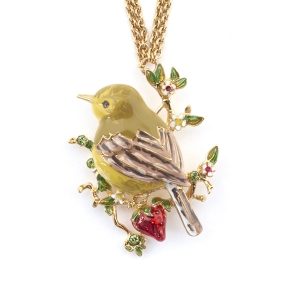 Gold Crest Long Pendant (Gold)