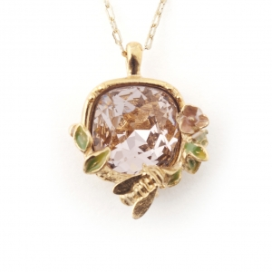 Scenes of Nature Bee & Rose Pendant