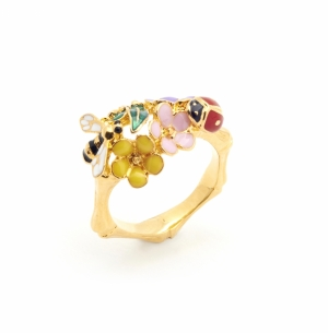 Floral Bug Ring - Gold
