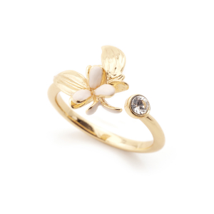 Magnolia Flower Open Ring