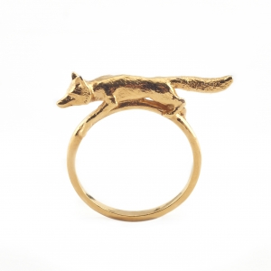 SILVER & GOLD FOX RING - Small Only