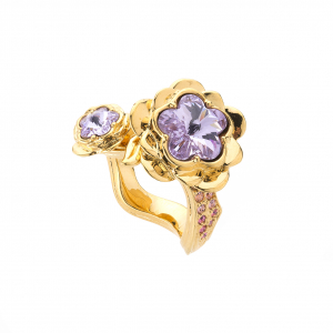 Botanical Flower Ring - Gold