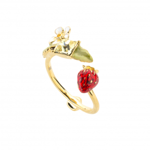 Wild Strawberry Open Ring