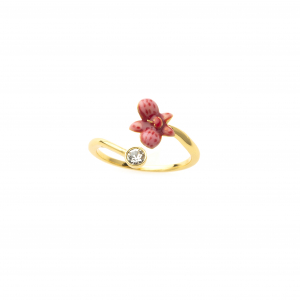 Orchid Crystal Open Ring