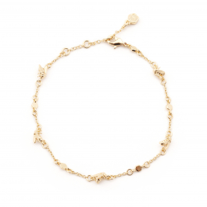 Micro Bee & Hexagon Bee Station Bracelet - Gold