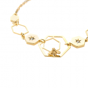 Hexagon Bee Bracelet