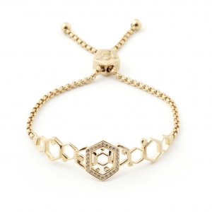 Hexagon Friendship Bracelet Gold