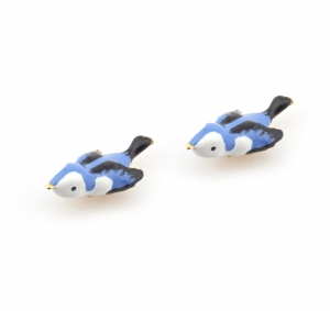 Hedgerow Bluebird Stud Earrings