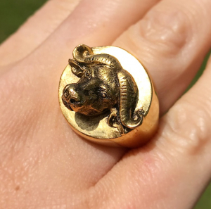 Archive Buffalo Statement Ring - Small Size Only