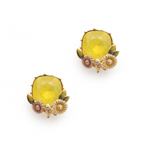 Scenes of Nature Earrings - Yellow Opal