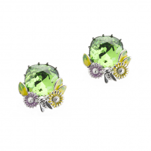 Scenes of Nature Earrings - Emerald Green