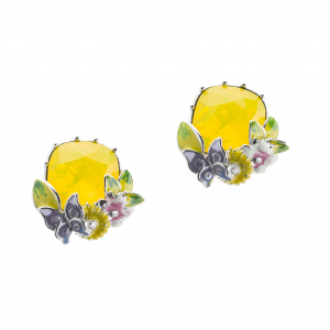 Scenes of Nature Earrings - Canary Opal