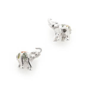 Elephant Mini Stud - Rhodium