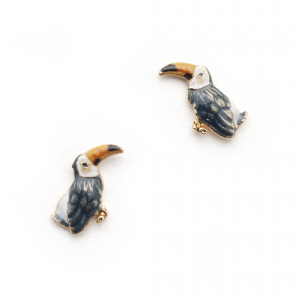 Tropical Toucan Studs - Gold