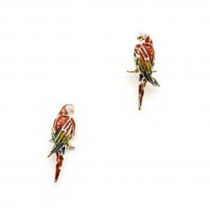 Tropical Parrot Studs - Gold