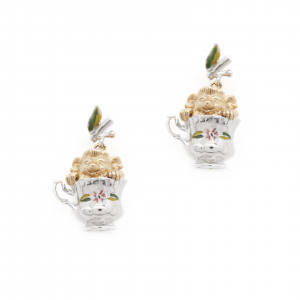Tea Party Hedgehog Earrings