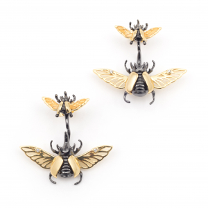 Flying Beetle Through Earring