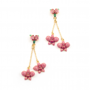 Orchid Double Drop Earring