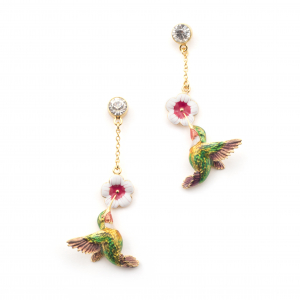 Hummingbird Single Drop Earring