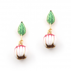 Floral Bud Drop Earring