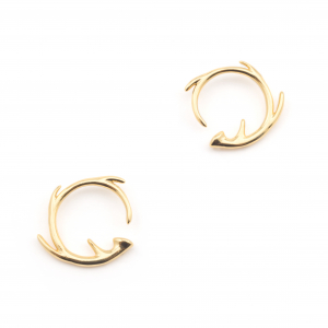 Circle Antler Stud Earring