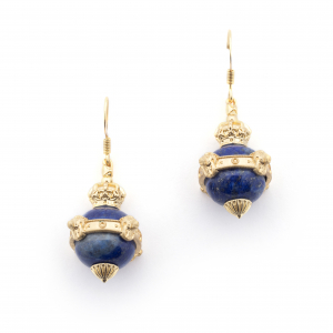 Lion Orb Lapis Earrings