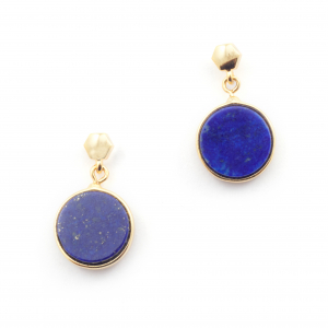 Filigree Disc Stud Mini - Lapis