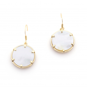 Filigree Disc Earrings - Mother of Pearl