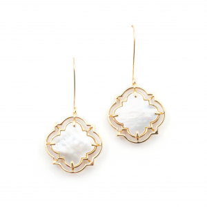 Statement Filigree Earrings - Mother of Pearl