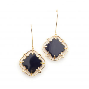 Statement Filigree Earrings - Onyx