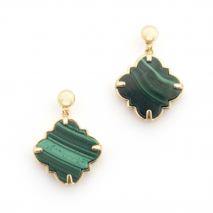Filigree Morocco Earrings - Malachite
