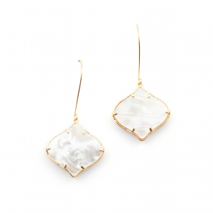 Arabesque Filigree Earrings - Mother of Pearl