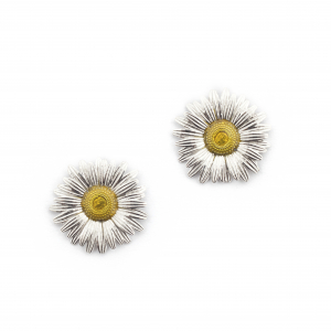 Daisy Large Studs - Rhodium