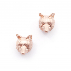 Fox Stud Earrings - Rose Gold