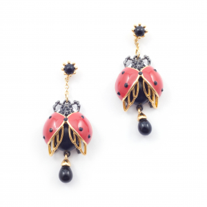 Bejewelled Ladybird Statement Earring