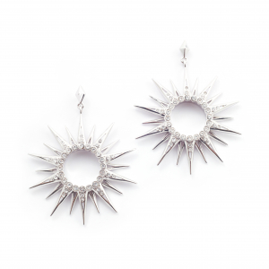 Starburst Statement Earring - Rhodium