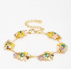 Bee & Floral Bamboo Bracelet