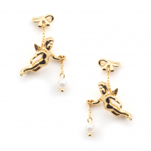 Flying Cherub Statement Earring