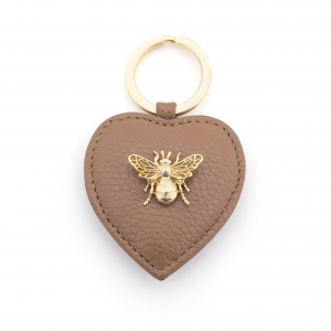 Queen Bee Leather Keyring - Tan